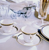 Table Scene with Coffee Cups