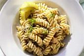 Fusilli (spiral pasta) with tuna, anchovies & capers