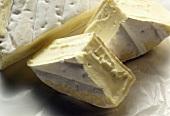 White Castello (Danish soft cheese) in three pieces