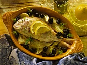 Orata al forno (oven-baked sea bream with fennel)