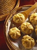 Warm Dou-Sha parcels (filled with sweet bean paste)