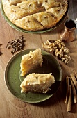 Baklava (puff pastries with nuts and sugar syrup)