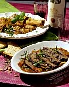 Scottiglia e Stracotto alla paesana (meat stew & roast meat)