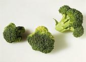 A few broccoli florets