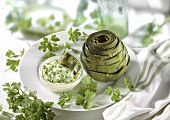 Baked Artichoke with Dipping Sauce