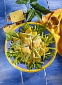 Celery and orange salad with cream dressing