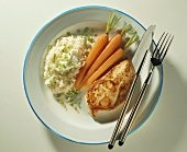 Turkey fillet with carrots, rice, sour cream & chives