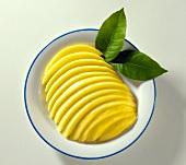 A Plate Full Of Sliced Mango