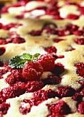 Sweet raspberry pudding