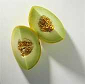 Two Slices of Honeydew Melons
