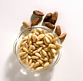 Pine nuts in bowls