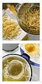 Making spaghetti nests