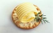 A Butter Curl on a Cracker