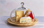 Assorted Cheese Under a Glass Cloche