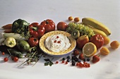 Vegetable Dip with Assorted Vegetables