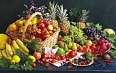 Obst- & Früchtestilleben mit Obstkorb