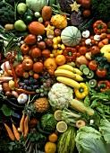 Many Fresh Fruit and Vegetables; Still Life