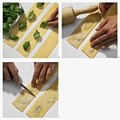 Making basil pasta