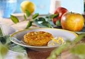 Mini-apple tart (tarte tatin) with crème fraiche & zest