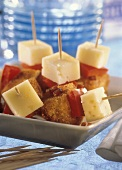 Fried Appetizers with Swiss Cheese