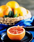 Pink Grapefruit Half with a Fork