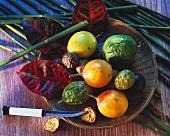 Overhead of Tropical Fruit