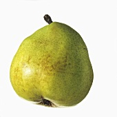 A yellowy-green pear (variety: Vereinsdechant)