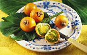 Many Persimmon on a Plate