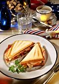 Grilled Salami Sandwich