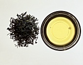 A Pile of Sencha Tea Leaves