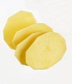 Four slices of raw potato