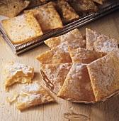 Völser Kirchtagskrapfen (deep-fried pastry diamonds)