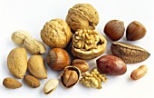 Several different nuts