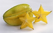 Whole Starfruit with Cut Pieces