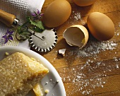 Parmesan Cheese with Brown Eggs