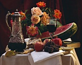 Elegant Table Setting of Assorted Fruit