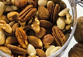 Various nuts in a bowl (close-up)