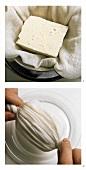 Tofu abtropfen lassen