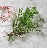 Bouquet garni (a sprig of thyme, rosemary and parsley)