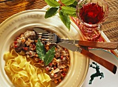 Styrian venison stew with root vegetables & ribbon noodles