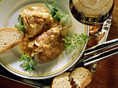 Flemish rabbit in beer with white bread & parsley