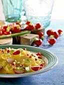 Hearty potato salad with radishes & spring onions