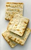 Square cream crackers