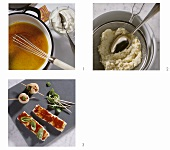 Making fish fondue