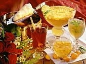 Fire tongs punch, grape punch, exotic punch and tea punch