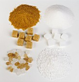 Brown & white sugars, crystal sugar, granulated sugar