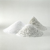 Iodine salt, sea salt and coarse salt (a heap of each)