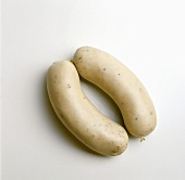A pair of white sausages (Weisswurst)
