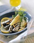 Sarde al finocchio (Sardines with fennel and lemon)