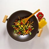 A Wok with a Vegetable Stir Fry